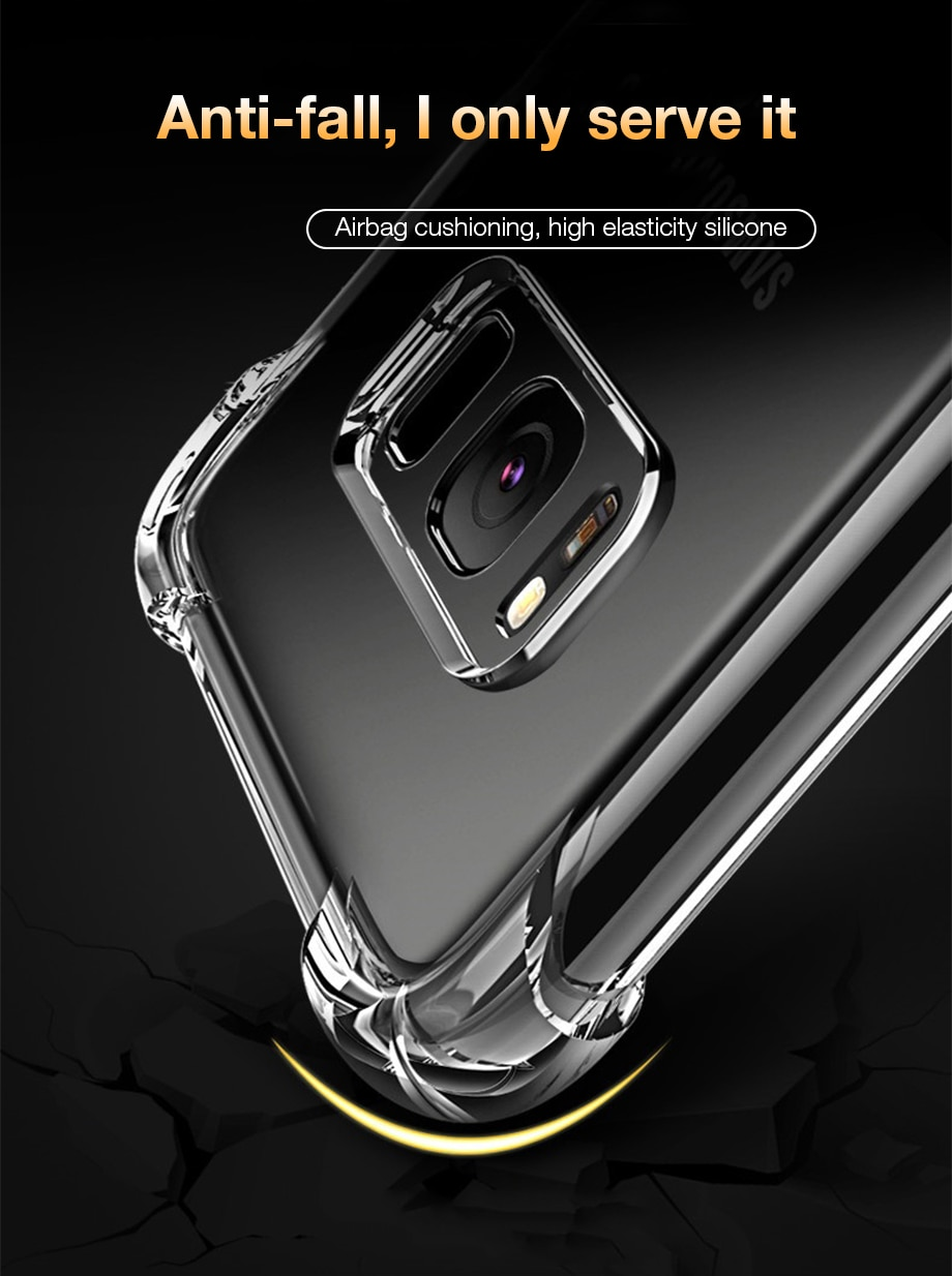 Shockproof Case for Samsung Galaxy S10 Plus lite S10e S20 S8 S9 plus Silicone Phone Cases on for Samsung Note 10 9 8 Back Cover