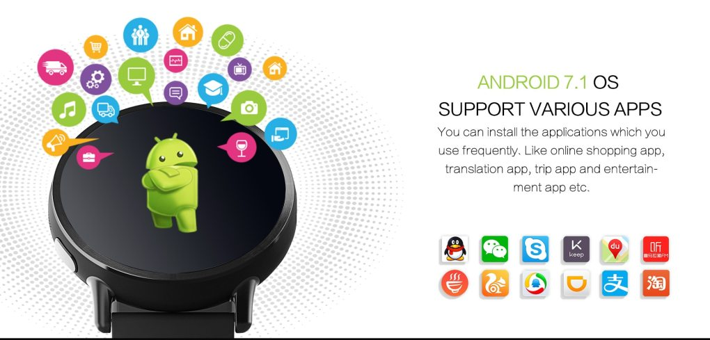 LEMFO LEM X 4G smart watch Android 7.1 With 8MP GPS Camera 2.03 Inch 900Mah Screen Battery Sport Business Strap for Men