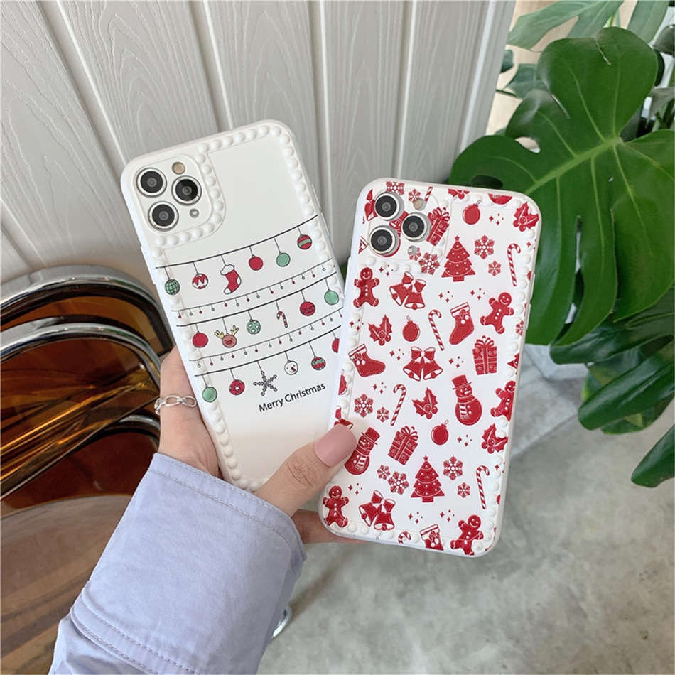 Lovebay New Fashion Christmas Phone Case For iPhone 11 Pro Max XS Max XR X 7 8 Plus SE 2020 Cute Christmas Gift Soft Back Cover