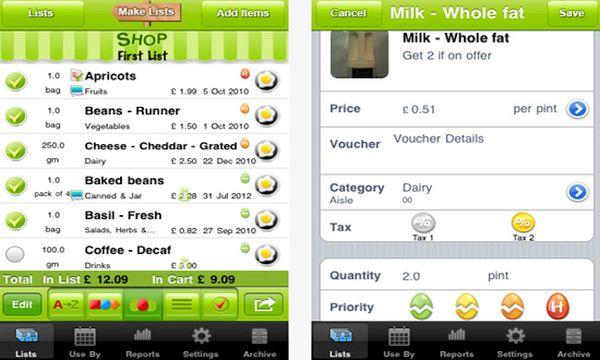 Green Egg Shopper app