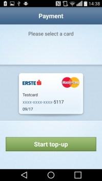 Select payment card