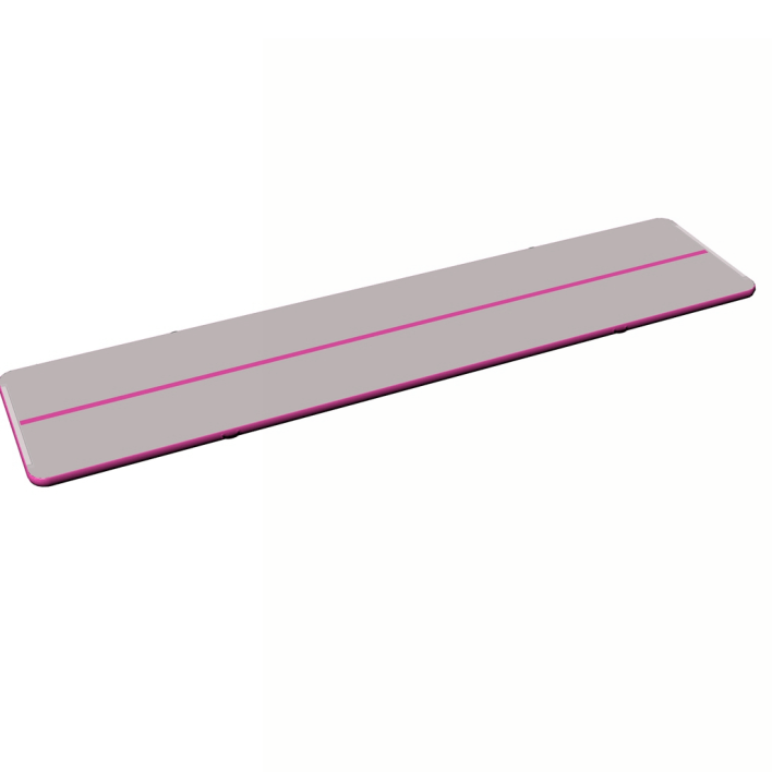 Funny air track gymnastics gray surface pink side inflatable tumbling mat