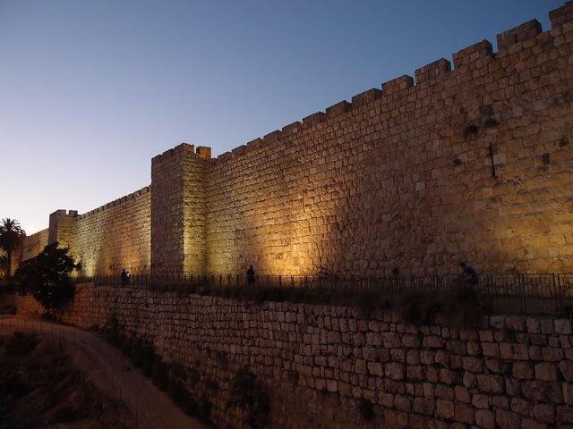 Es la muralla alta de Jerusalen