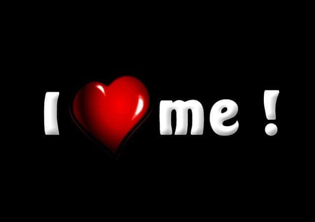 es un rotulo que dice I Love Me
