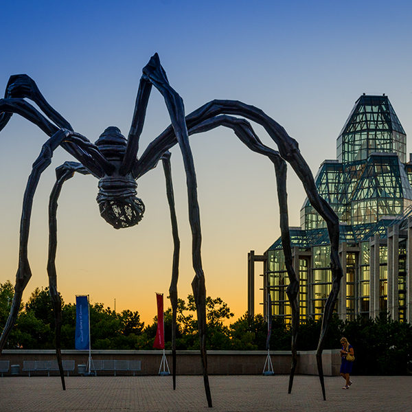 Maman (The Mother in French), The Spider, a famous sculpture by Louise Bourgeois.