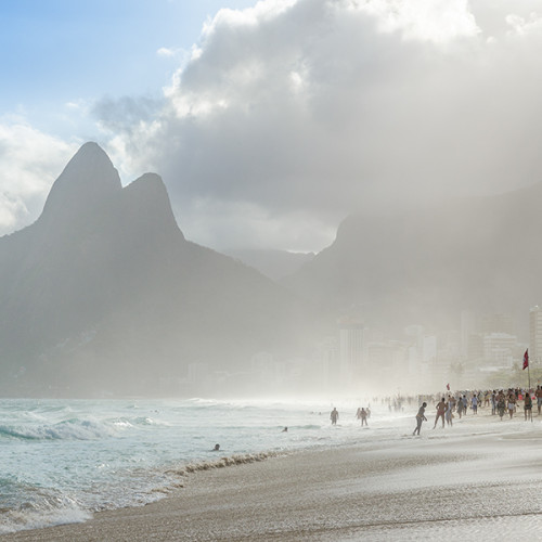 The famous Ipanema Beach, in Rio de Janeiro, Brazil, immortalized by the song The Girl From Ipanema.