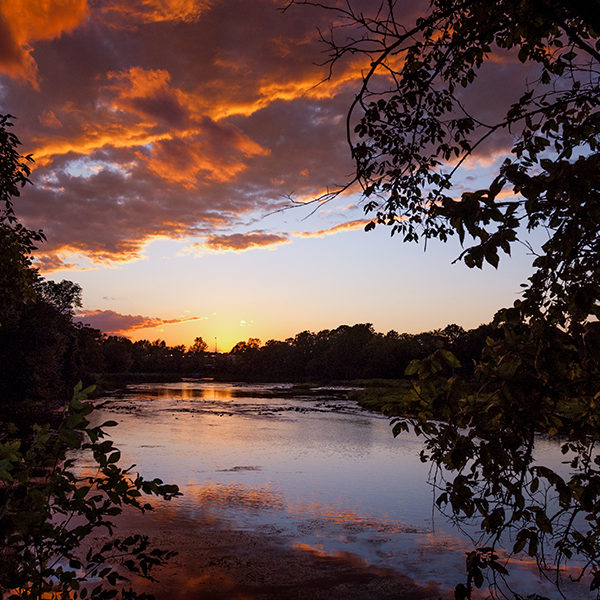 Rideau River, Ottawa, Canada.