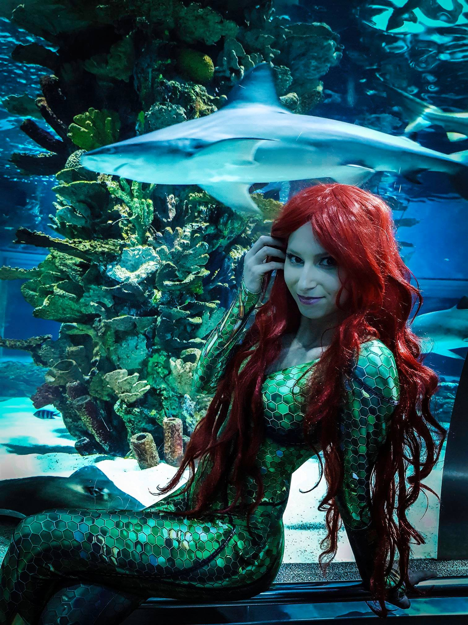 Mera with Shark