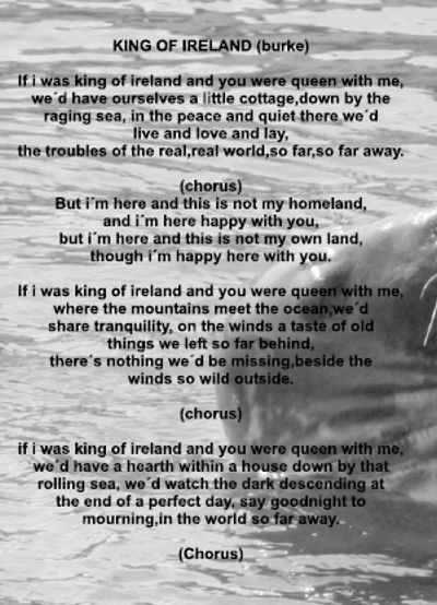 Text King Of Ireland by The Krusty Moors