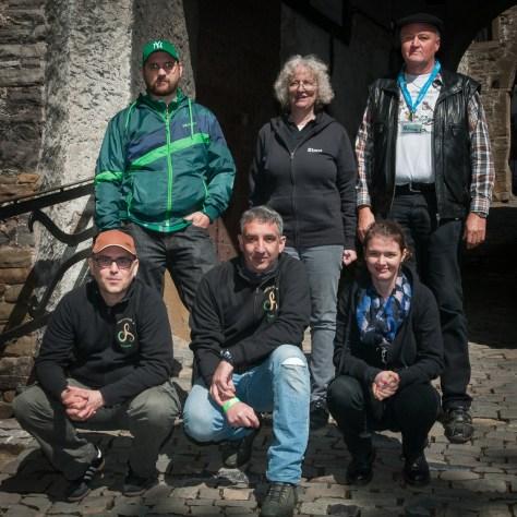 Gruppenfoto im Mai 2015 auf Schloss Hohenlimburg