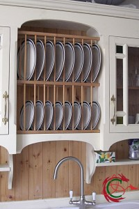 Bespoke kitchens South Wales: platerack in sink dresser