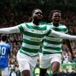 Celtic's Odsonne Edouard celebrates scoring their first goal