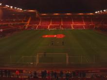 ゴール裏から撮ったスタジアム。