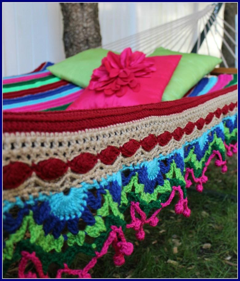 Colorida Hammock Blanket Celtic Knot Crochet