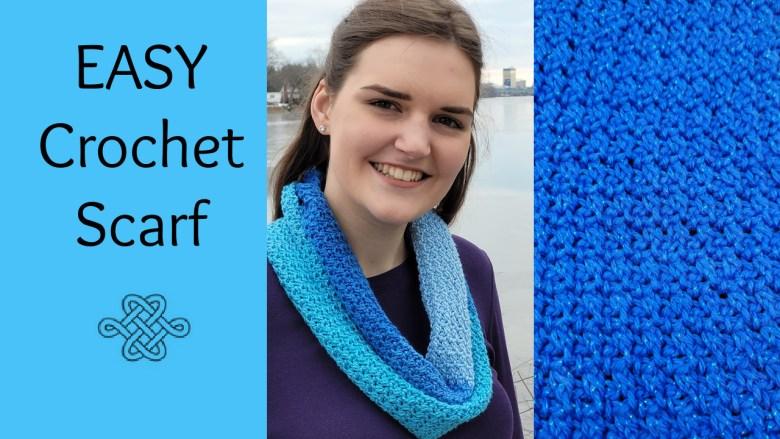 crochet scarf simple stitch easy