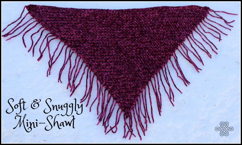 velvet crochet shawl in magenta for kids