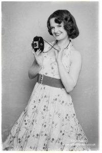 Brandy's pin up shoot with a Kodak Brownie