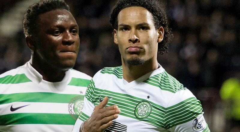 Image result for van dijk and wanyama celtic