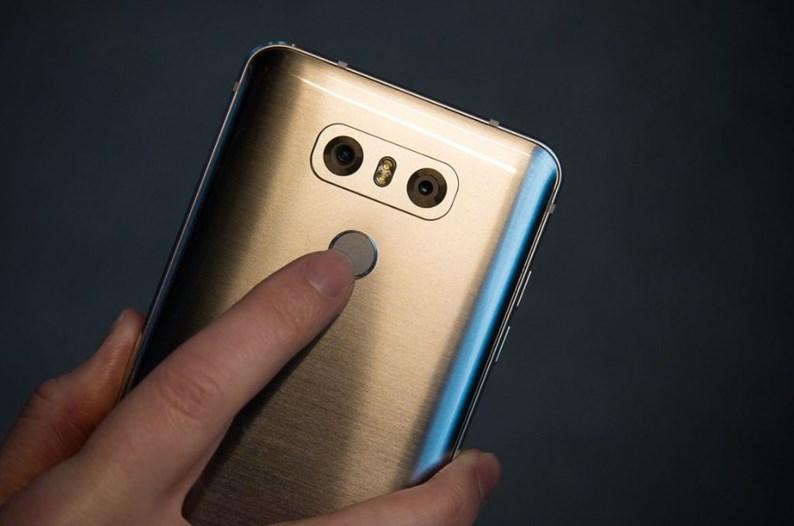 Impressao digital no LG G6