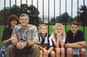 The Johnson family at the White House.