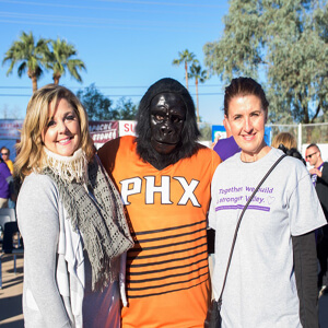 Dena Jones, The Phoenix Suns Gorilla & Cheryl Lombard Photo credit: Brianna Nessler, Small Giants
