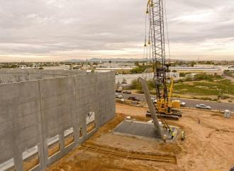 Graycor completes panel tilt on East Valley Commerce Center Phase II