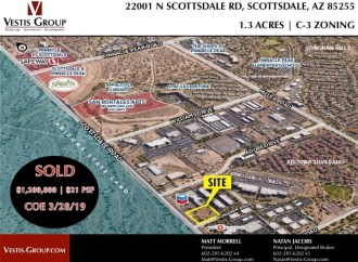 Vestis Group Completes Sale Of Infill Commercial Land In North Scottsdale For $1.2M