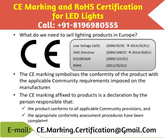 rohs certification for led lights