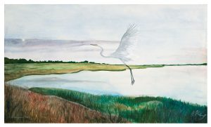 Great Salt Marsh I, Egret ©CEMarqua