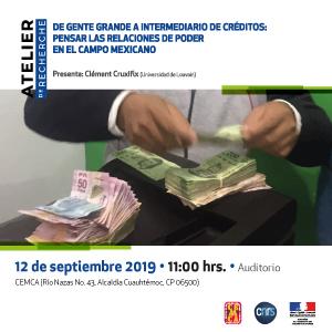 [12 septiembre] Atelier de recherche