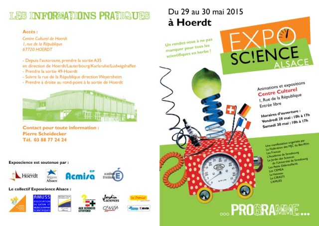 Affiche expo sciences