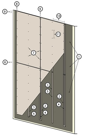 Installation On Steel Cement Board Fabricators