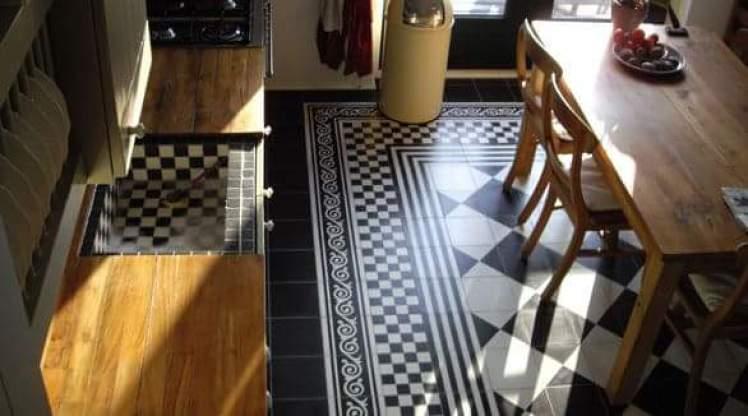 Castelo vloer tegels zwart wit