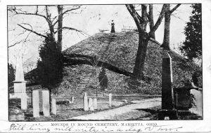 Early postcard from Mound Cemetery, Ohio
