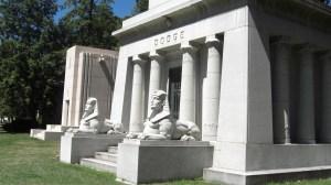 The Dodge mausoleum, Detroit. Photographed by Loren Rhoads