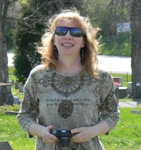 Joy in cemetery