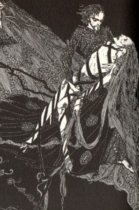 """Harry Clarke's illustration for """"Bereneice"""" from the 1919 edition of Tales of Mystery and Imagination"""