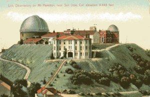 Vintage postcard of the Lick Observatory on Mount Hamilton.