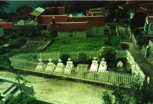 Family plot in the backyard.
