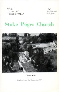 """Souvenir booklet published in 1948: """"copyright reserved by the Vicar."""" The aerial view of the church shows the manor up toward the right corner."""