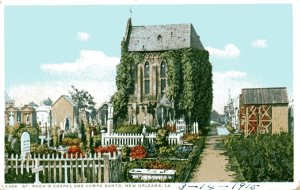 Vintage postcard of St. Roch's Cemetery, dated 1915.