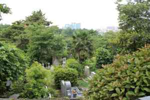 View of the Yokohama Foreign General Cemetery from the main gate