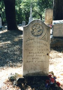 Thos. Younger monument, Pioneer Cemetery, Coloma, California