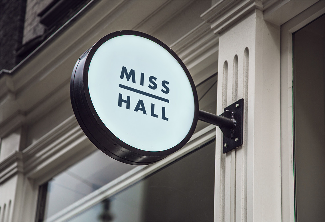 fashion brand identity for Miss Hall