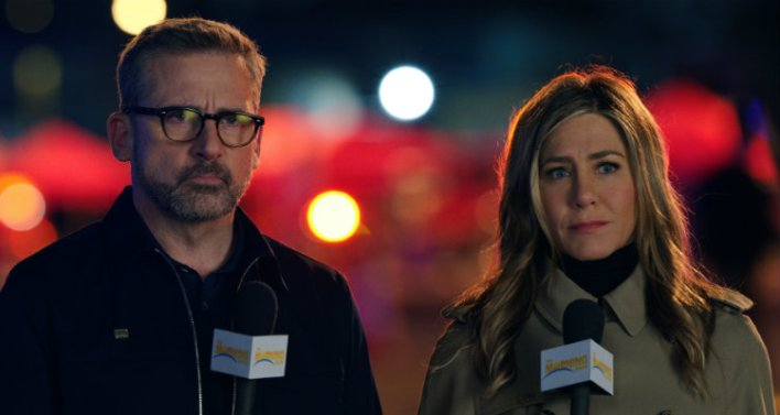 Steve Carell e Jennifer Aniston na primeira temporada de The Morning Show