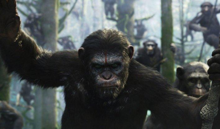 Andy Serkis como Caesar em Planeta dos Macacos: O Confronto