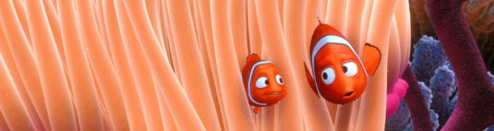 Marlin, o pai peixe-palhaço de Procurando Nemo