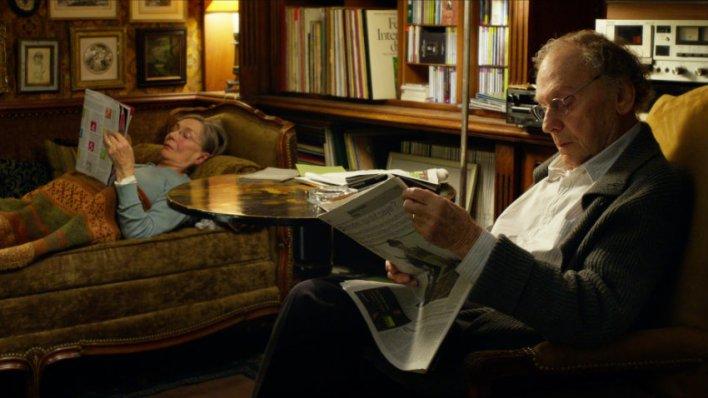 Emmanuelle Riva e Jean-Louis Trintignant em Amor (Amour)
