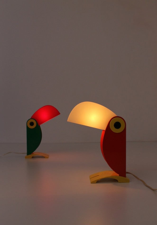 Toucan Lamps Italy 1960ies Cencity Nl