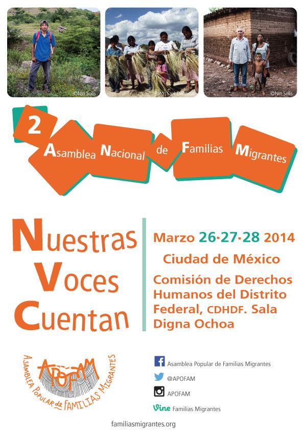 Invitación a la2 Asamblea Nacional de Familias Migrantes